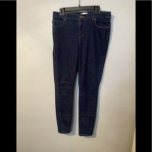 LOFT Jeans // skinny leg stretch dark wash 12/31
